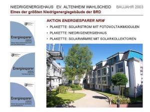 Niedrigenergiehaus Ev. Altenheim Wahlscheid
