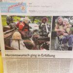 Foto eines Artikels in der Kölnischen Rundschau vom 11.8.2017